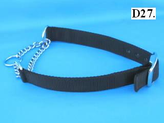 "1"" wide chain martingale collar"