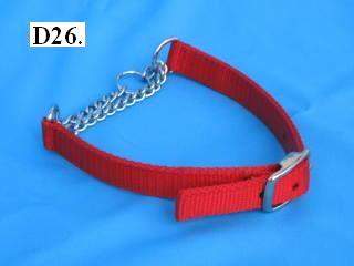 "3/4"" wide chain martingale collar"