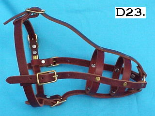 old style leather muzzle