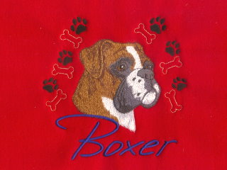 Boxer With Paw Prints