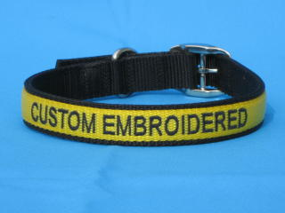 embroidered dog collar