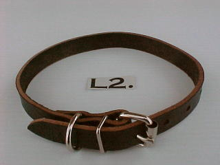 "3/4"" Leather Collar"