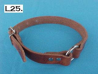"3/4"" Leather Hunting Dog Collar"