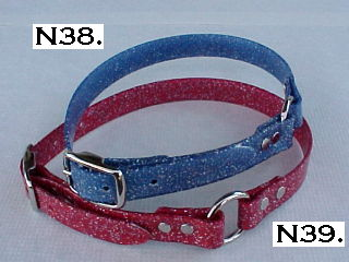 Gliter Red + Blue BiPlastic Collars
