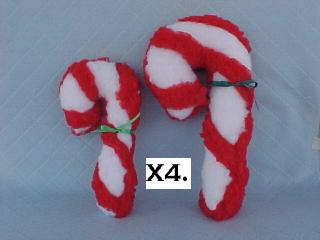 Fleece Candy Cane Toy